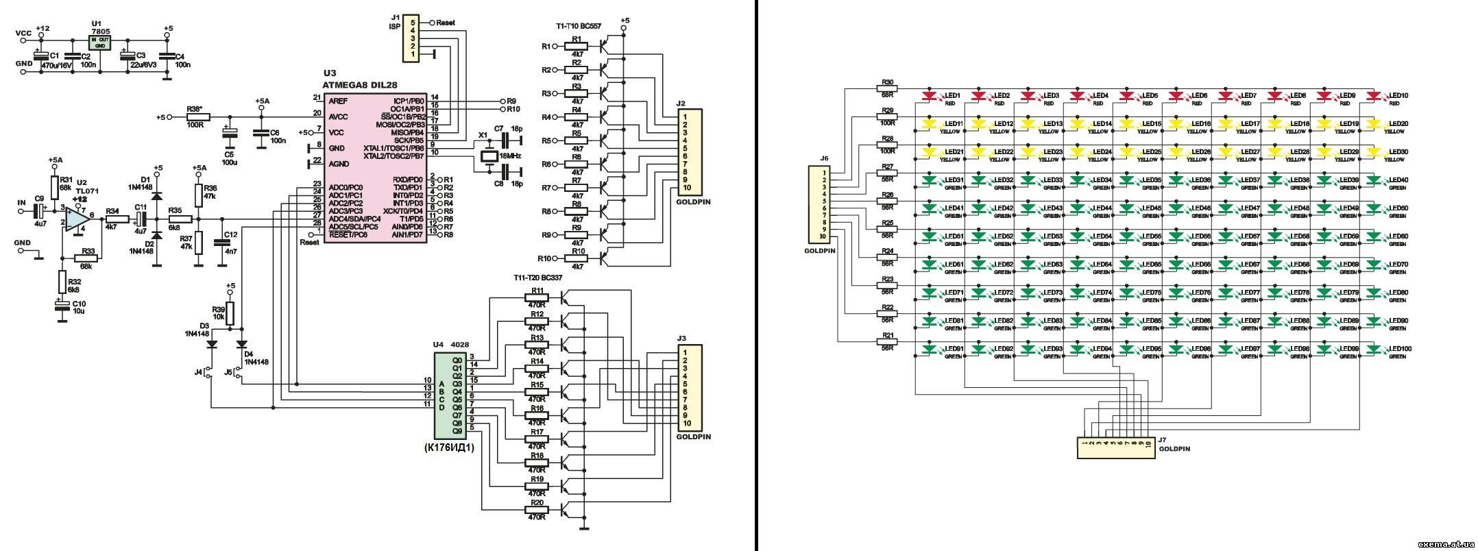 Аудио анализатор спектра схема 10 фотография