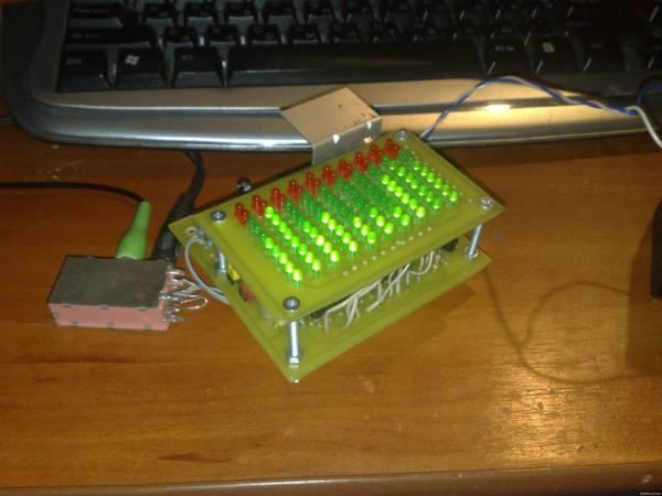 схемы на микроконтроллерах.  19.02.2010. спектроанализатор на светодиодах.  Просмотров: 9690 Добавил: SAHЯ Дата.